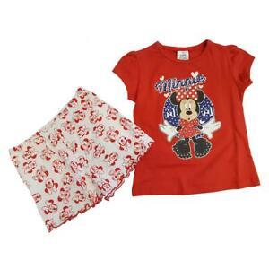 Disney Minnie Mouse Court Filles Pyjama Tailles De 4 To 8 Ans-afficher Le Titre D'origine