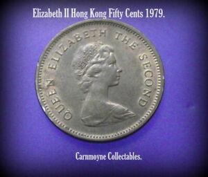 Elizabeth-II-Hong-Kong-50-Cents-1979-AH2307