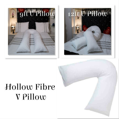 Virgin Hollow Fibre Filling 9ft,12ft U Pillow,V-Pillow Maternity/Nursing Pillows
