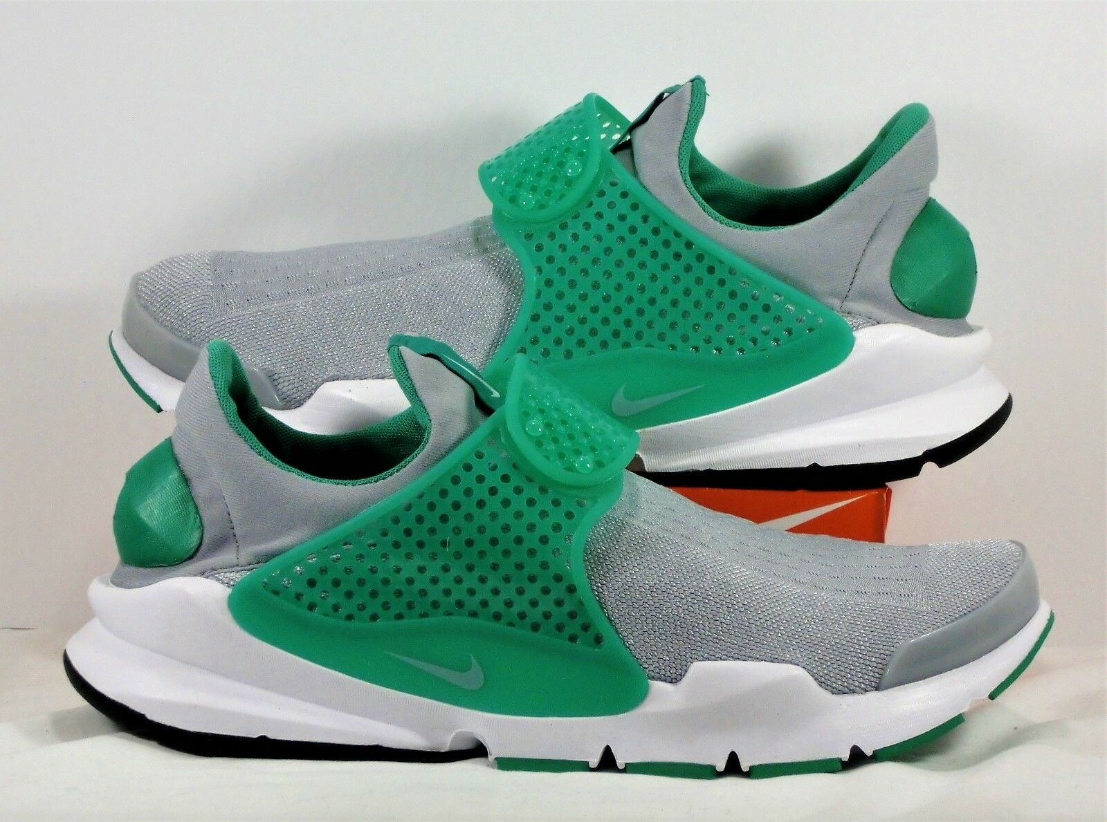 Nike Sock Dart KJCRD Wolf Grey Green Running Training Shoes Sz 11 NEW 819686 004