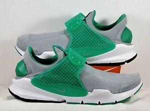 Nike Sock Dart KJCRD Wolf Grey Green Running Training Shoes Sz ... a2efec4a7200