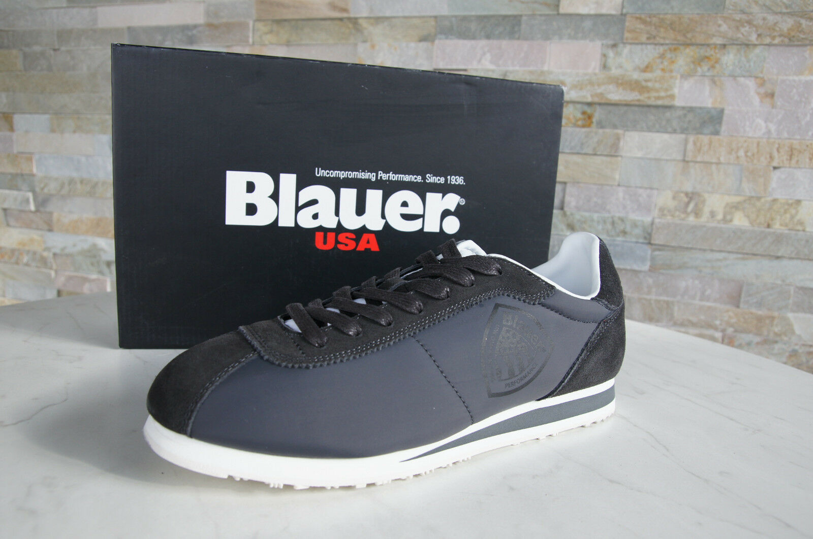 Blauer USA Size 42 Sneakers Lace Up Shoes 7S Bowling Sue Grey NEW