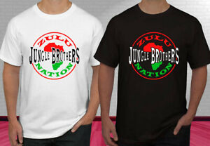 Jungle-Brothers-Zulu-Nation-Logo-Men-T-Shirt-Size-S-2XL