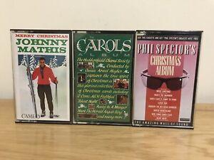 Music-Christmas-Cassette-Tapes-Bundle-Of-6-Inc-Johnny-Mathis-Doris-Day-amp-Carols