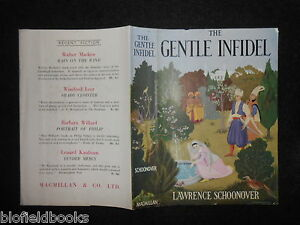 ORIGINAL-VINTAGE-DUSTJACKET-ONLY-for-The-Gentle-Infidel-by-Lawrence-Schoonover