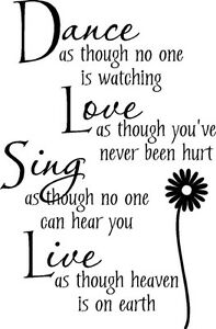 Dance-Love-Sing-With-Flower-Vinyl-Wall-Decal-Sticker-Lettering-Words-Quote