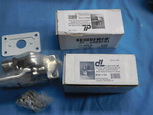 D-Lilly-105B-Stainless-Steel-Antenna-Mount-Ratchet-Laydown-Mount-2each-NEW