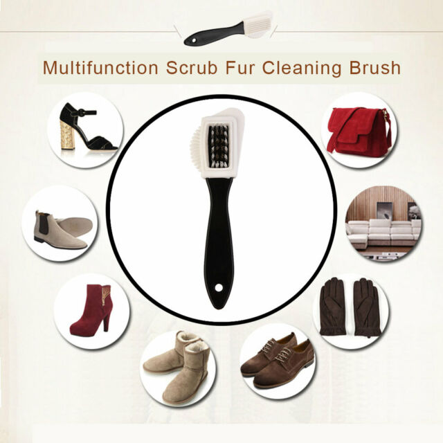 Multifunction Scrub Fur Cleaning Brush Portable Snow Boots Suede Shoe Cleaner FG