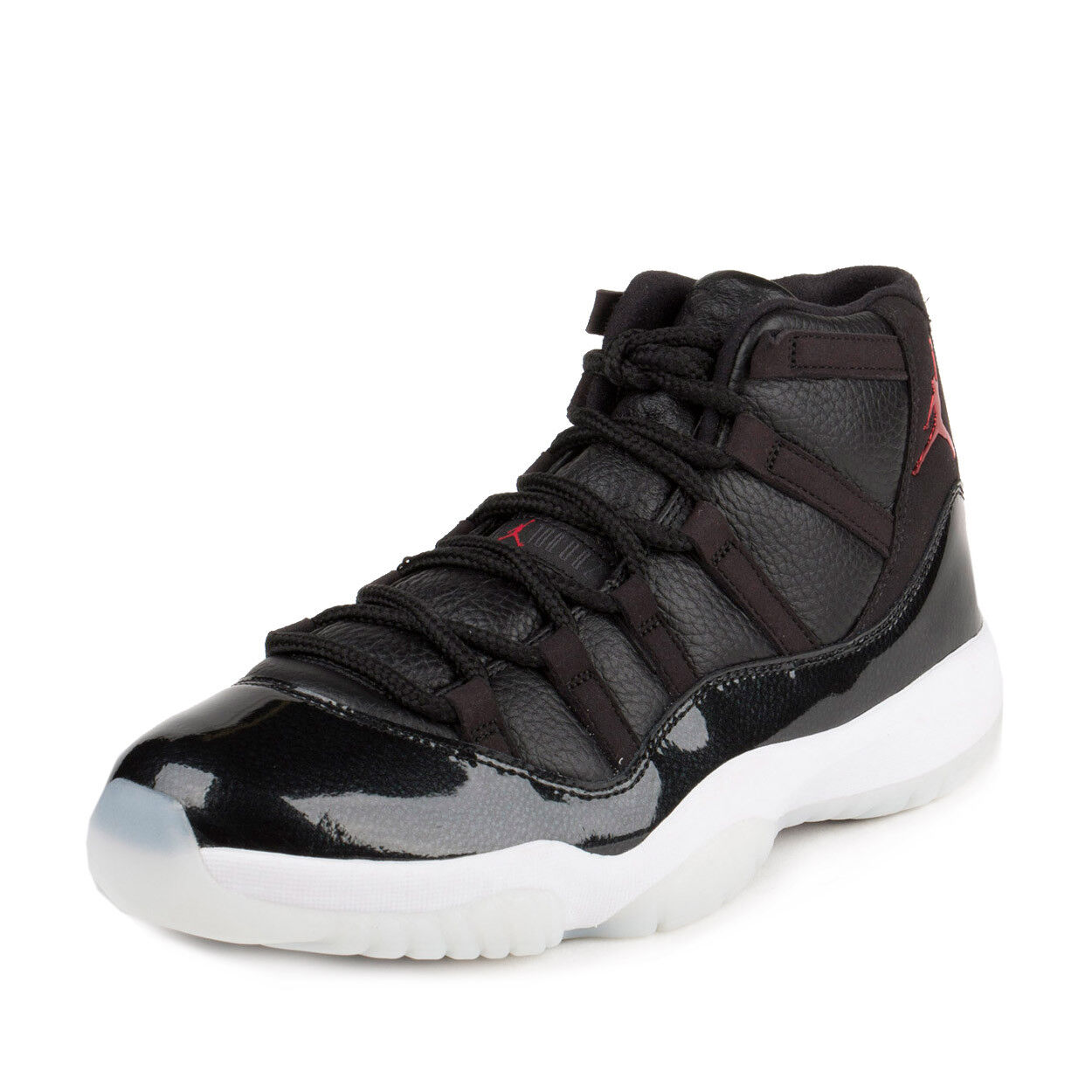 Nike Mens Air Jordan 11 Retro  72 10  Black Gym Red-White 378037-002