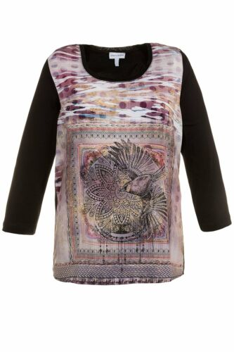 Gina Laura Shirt relaxed front Druck multicolor NEU