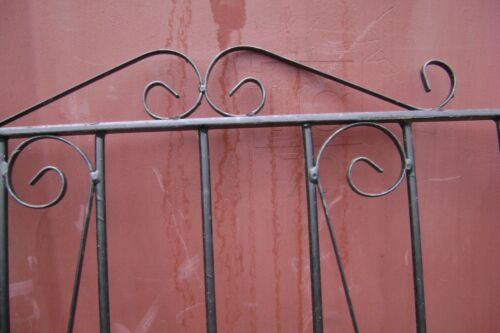 GATE DOUBLE   SWIRL DESIGN BLACK  1780mm HIGH X  2120mm WIDE  OPENING APPROX