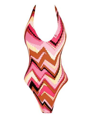 Designer Swimsuits Pink Multi Zig Zag 8//10 /& 10//12 BNWT Samantha Sage London