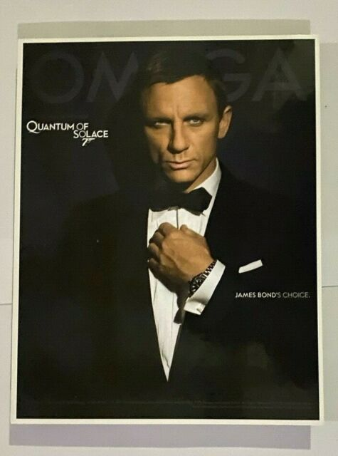 Omega Watch Official Display Backboard - James Bond Quantum of Solace 007 - S