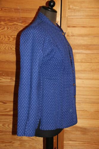 bleu S pour coton en boutons rose main Veste dames réversible la fait à Blazer Kantha 6H57aq