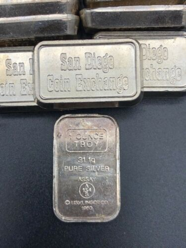 Rare San Diego Coin Exchange 1 Troy Ounce Silver Bar Holy Grail Of Holy Grail