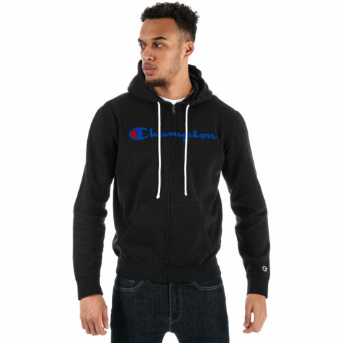 Mens Champion Garment Washed Zip Hoodies in Grey//Black//Charcoal