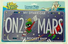 MARVIN the MARTIAN ON2MARS Car is ROCKET Looney Tunes License Plate - FREE SHIP