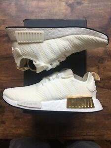 Ee5174 Adidas Women S Nmd R1 Shoes Off White Gold Metallic