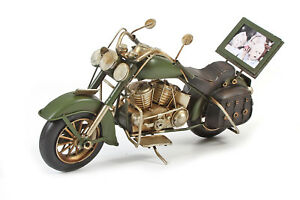 Cadre photo modèle en étain    vert fait main  motorrad Shopper