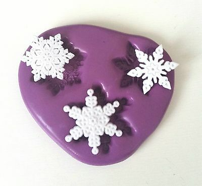 Small SNOWFLAKES Silicone Mould Frozen Christmas Sugarpaste Fondant Chocolate