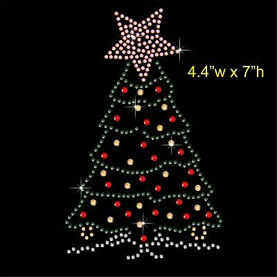 Snow Man Winter Christmas Rhinestone Transfer Hotfix Iron on Motif free gift