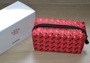 ae5a35ed320e60 NEW LE 2019 VIP gift Chanel Rouge Coco Flash small makeup bag NIB   eBay