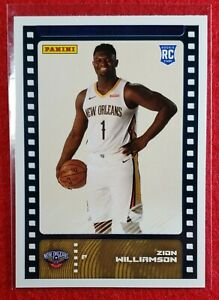 ZION-WILLIAMSON-Pelicans-2019-20-Panini-Sticker-and-Card-Collection-Rookie-RC