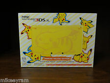 New 3DS XL Pikachu Yellow Edition US Version Pokemon Nintendo Console Sealed
