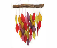 Fiesta Waterfall Chime Found Wood And Glass Wind Chime