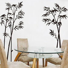 Black Bamboo Removable Wall Art Sticker Vinyl Decal Room Home Office Mural Decor