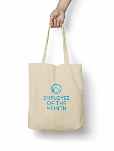 Employee Of The Month Tote Bag 5oz Premium Quality Natural Cotton Shopper Eco