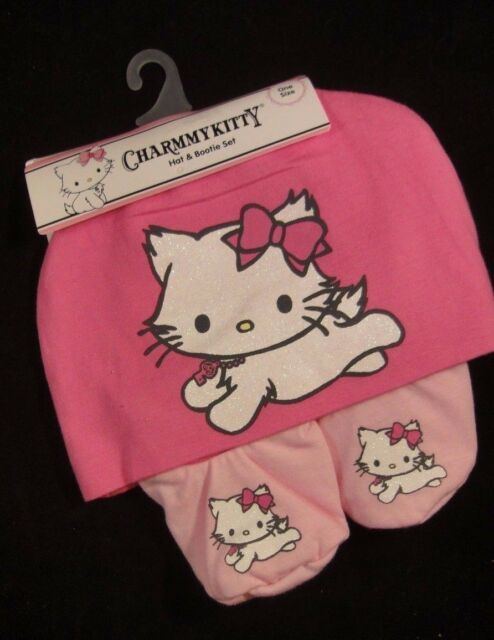 dfce0d34c Charmmy Kitty CharmmyKitty by Sanrio Baby Girl's Hat & Bootie Set - Pink