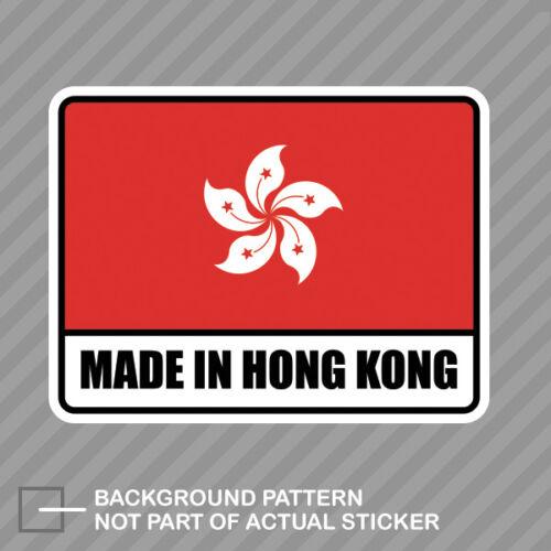 Made in Hong Kong Sticker Decal Vinyl Konger HK