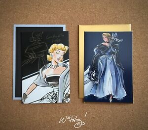 2018/2019 Disney Designer Collection CINDERELLA Art Note Card Premier Masquerade