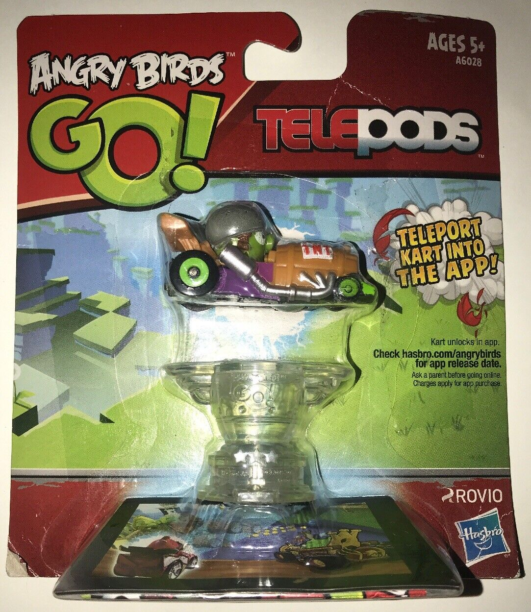 Hasbro Angry Birds Go Telepods Red Bird Kart Toy for Kids (ages 5 ...
