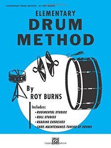 """Objectif Roy Burns """"elementary Drum Method"""" Instruction Musique Livre Mode-neuf Vente!-afficher Le Titre D'origine Sensation Confortable"""