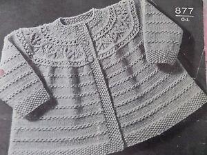 25f5ffea5 Knitting Pattern Baby Boy Girl Cardigan and Booties 18-20