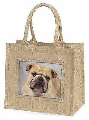Bulldog Große Natürliche Jute-einkaufstasche Weihnachten Geschenkidee, AD-BU5BLN