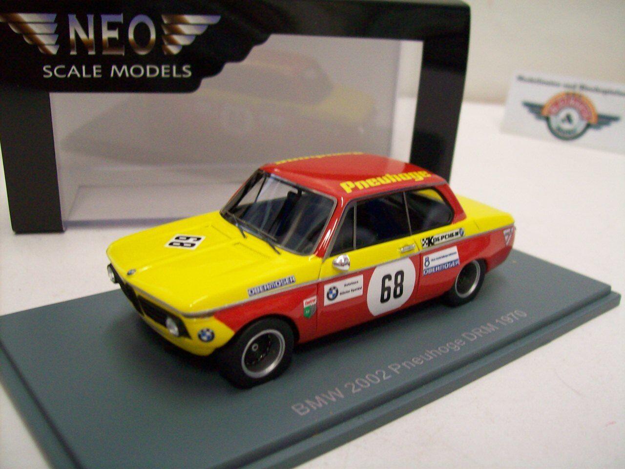 BMW 2002  Pneuhoge  DRM 1970, Yellow Red, Neo 1 43, OVP