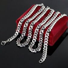 Lot 5pcs in bulk Stainless steel Curb Chain Fashion Necklace Jewelry 8m 22''
