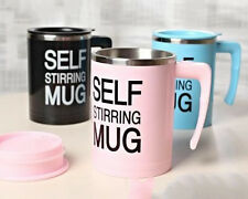 Self Stirring Mug Battery Operated Mug Cup With Lid (Pink)