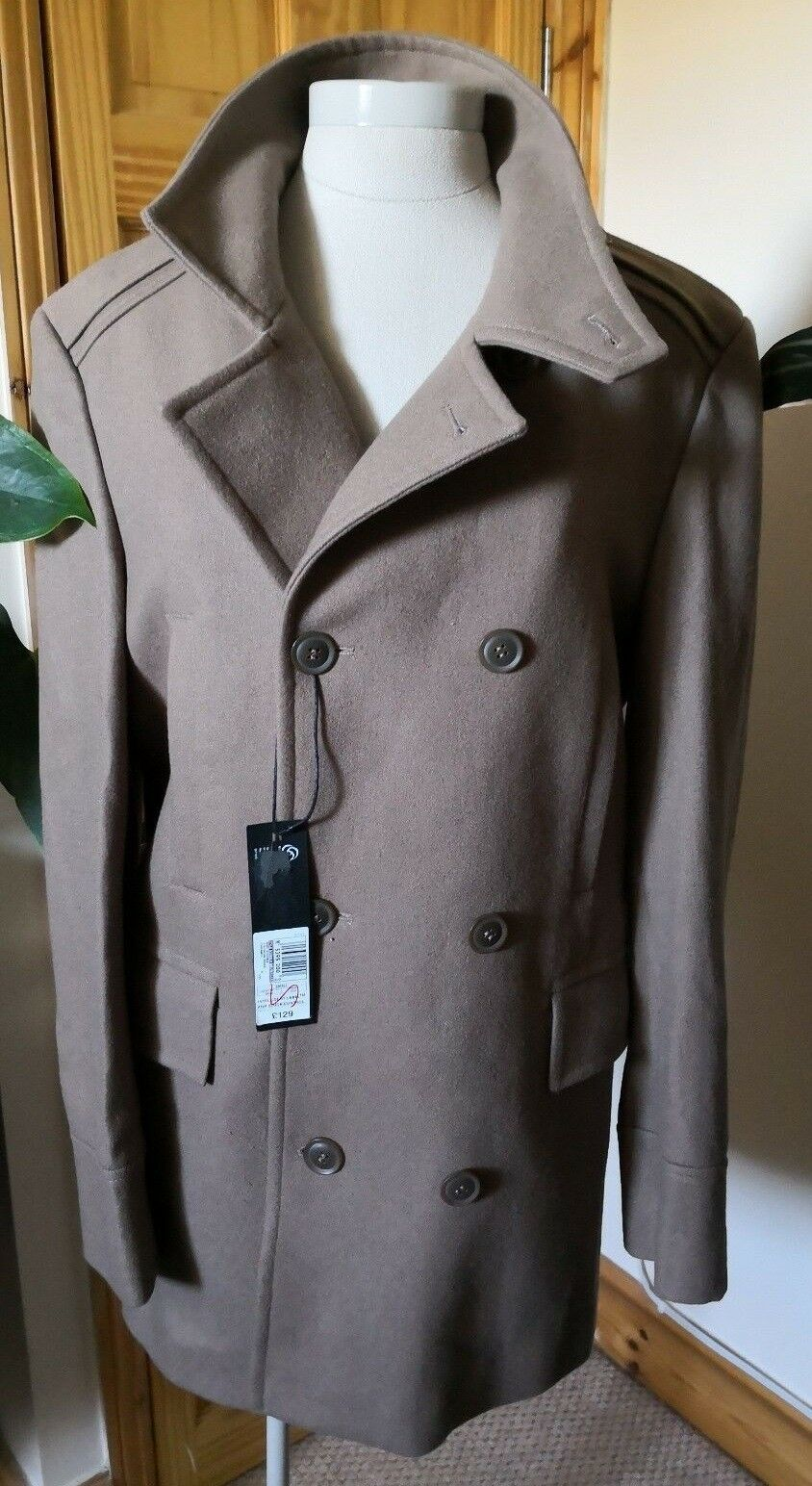 4e9dfaca2 M&S Marks And Military Wool Coat Size RRP Beige Army Designer Top S Spencer  nsmxum8107-Coats & Jackets