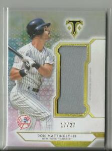 low priced 3a068 c3b08 Details about 2018 Topps Triple Threads Don Mattingly Jersey Relic Card  Yankees #ed 17 / 27