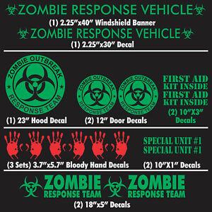 Zombie Outbreak Response Vehicle Decal Sticker Team Z