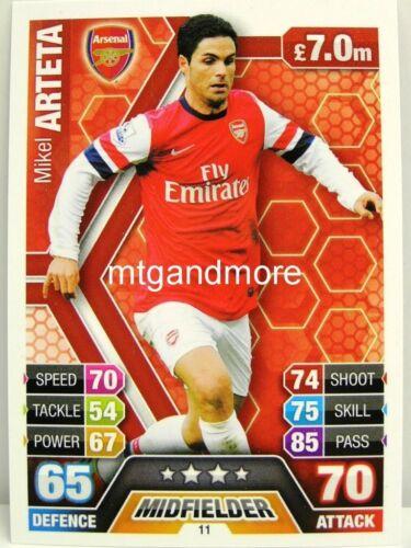 Arsenal London #011 Mikel Arteta Match Attax 2013//14 Premier League
