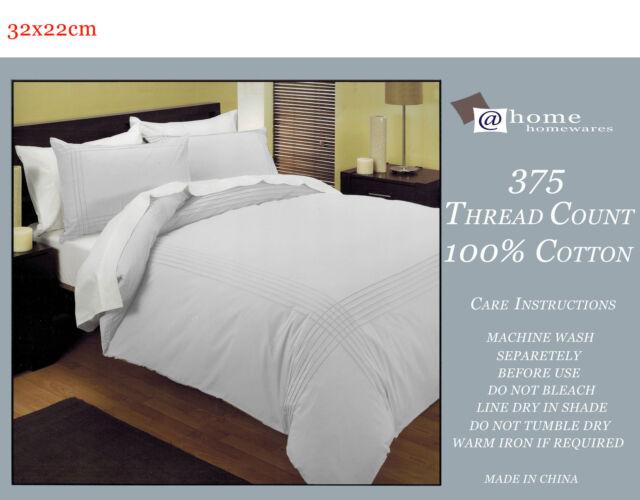 100% Cotton Pintuck  Quilt Doona Duvet Cover Set BRAND NEW