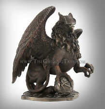 """Celtic Griffin Clutching Ball ~ Beautiful Cold Cast Bronze Statue ~ 9.5"""" x 12"""""""