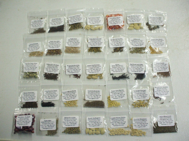 100,000 Heirloom Non GMO SURVIVAL Emergency Seeds Kit