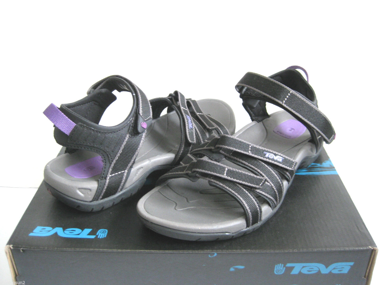 TEVA TIRRA WOMEN SPORT SANDALS BLACK  US 7.5  UK 5.5   EU 38.5