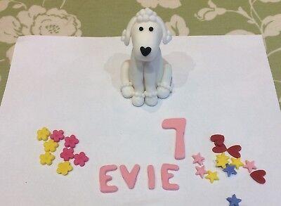 Pleasing Handmade Poodle Dog Fondant Sugarpaste Edible Cake Topper Birthday Funny Birthday Cards Online Aeocydamsfinfo
